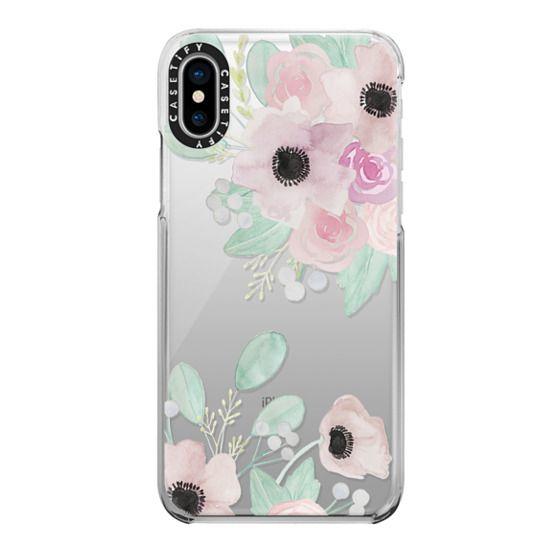 iPhone X Cases - Anemones + Roses