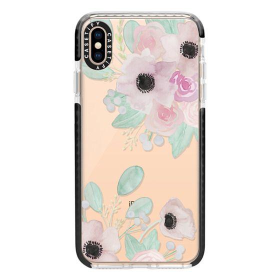 iPhone XS Max Cases - Anemones + Roses