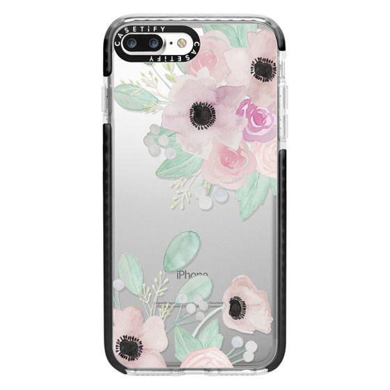 iPhone 7 Plus Cases - Anemones + Roses