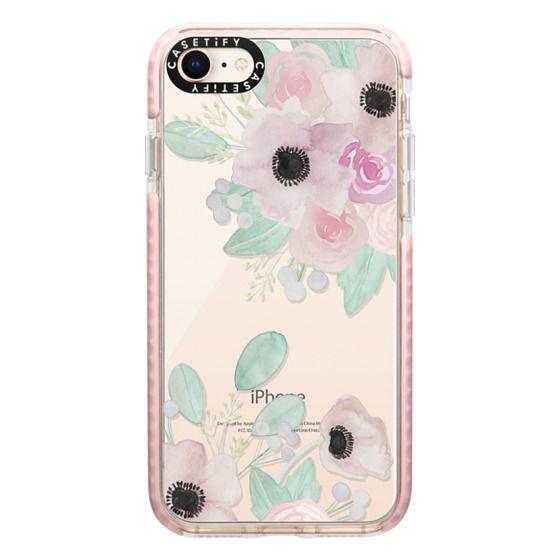 iPhone 8 Cases - Anemones + Roses