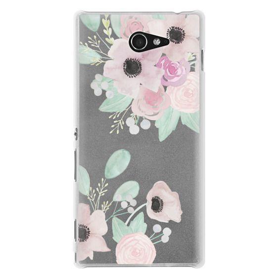 Sony M2 Cases - Anemones + Roses