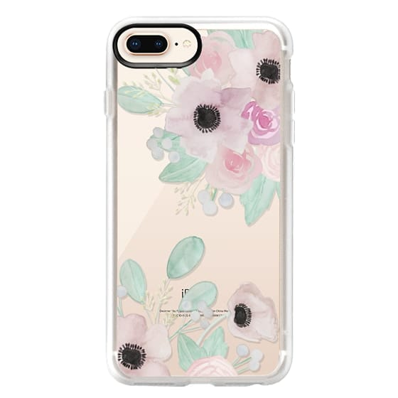 iPhone 8 Plus Cases - Anemones + Roses