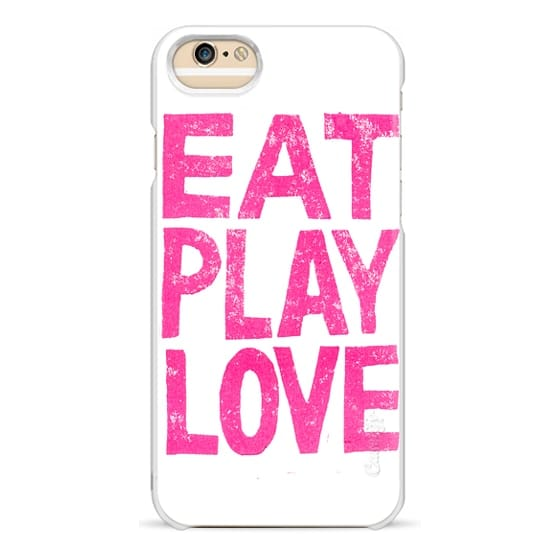 iPhone 6 Cases - Eat Play Love by Cindy Mangomini