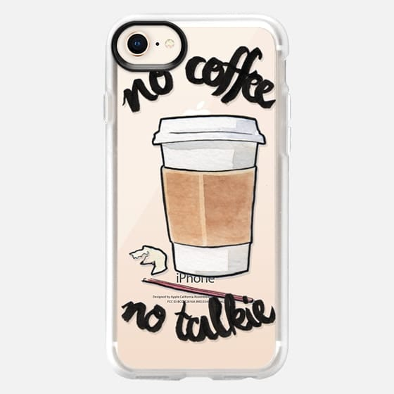 No Coffee Less Talkie by Liana Kangas - Snap Case