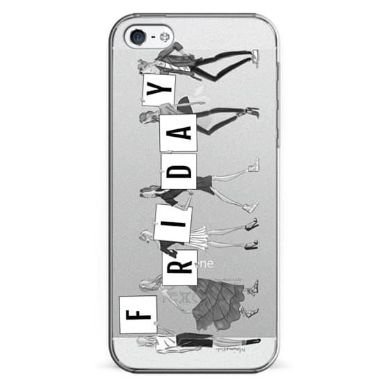 new styles fa4d7 ef6b2 Classic Snap iPhone 5 Case - HAPPY FRIDAY (TRANSPARENT FASHION ILLUSTRATION)
