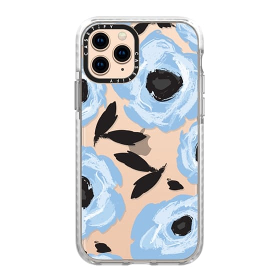 iPhone 11 Pro Cases - Blue Floral Abstract