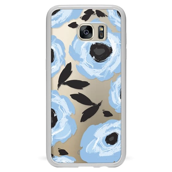 Samsung Galaxy S7 Edge Cases - Blue Floral Abstract