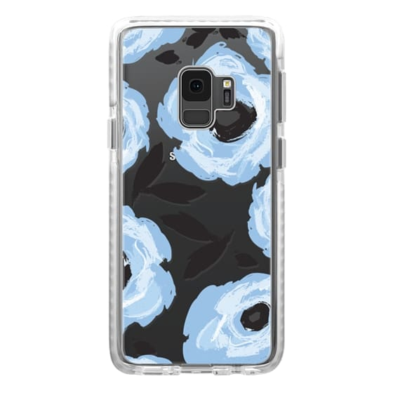 Samsung Galaxy S9 Cases - Blue Floral Abstract
