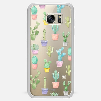 Samsung Galaxy S7 Edge ケース Watercolour pastel cactus hot summer by imushstore