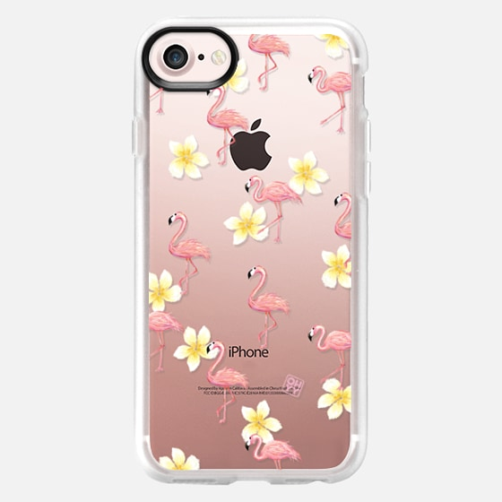 Flamingo in the exotic forest by imushstore - Classic Grip Case