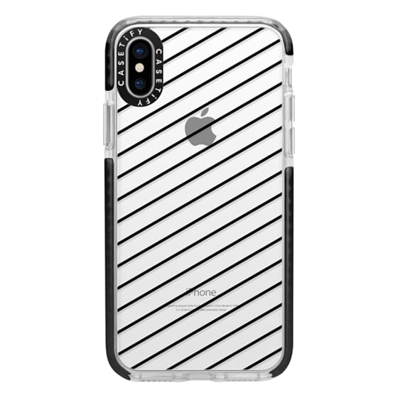 iPhone X Cases - Black Line Simple Life by imushstore