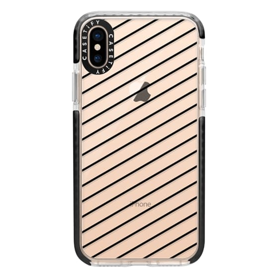 iPhone XS Cases - Black Line Simple Life by imushstore