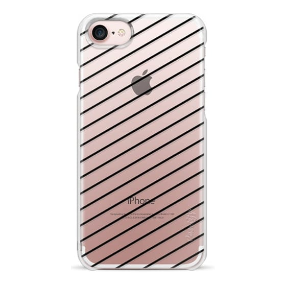 iPhone 7 Cases - Black Line Simple Life by imushstore