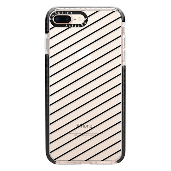 iPhone 8 Plus Cases - Black Line Simple Life by imushstore