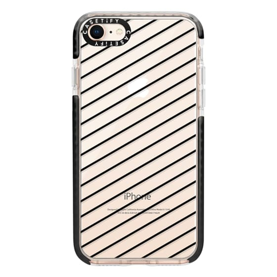 iPhone 8 Cases - Black Line Simple Life by imushstore