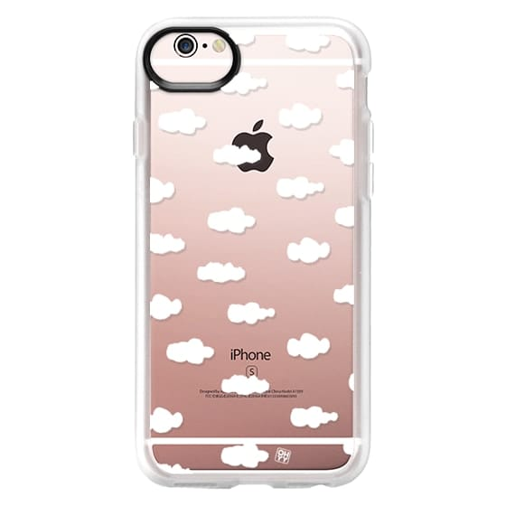iPhone 6s Cases - Watercolor sky cloud white by imushstore