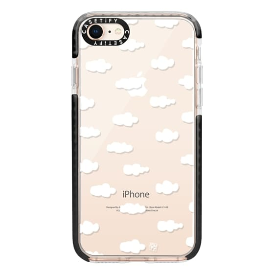 iPhone 8 Cases - Watercolor sky cloud white by imushstore