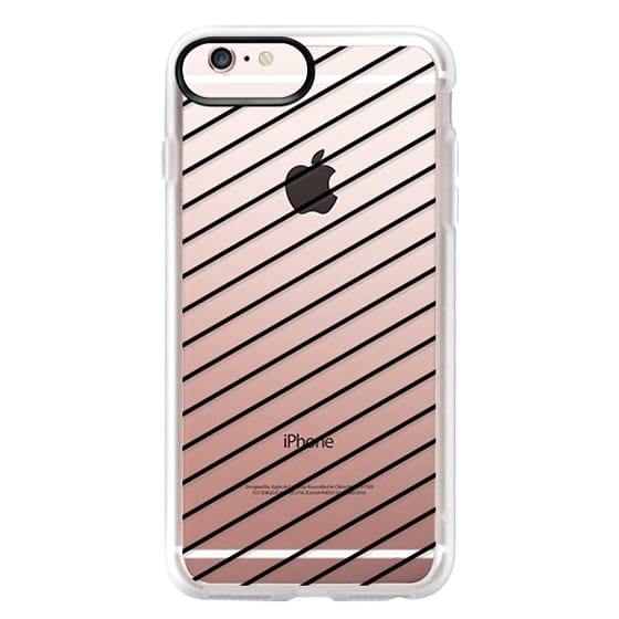 iPhone 6s Plus Cases - Black Line Simple Life by imushstore