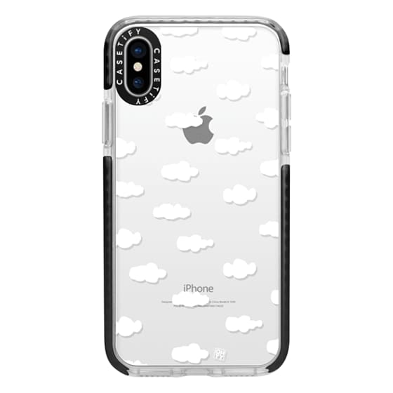 iPhone X Cases - Watercolor sky cloud white by imushstore