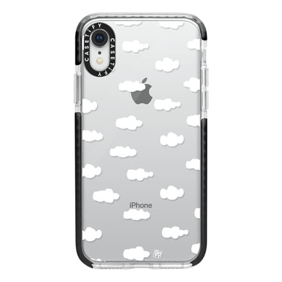 iPhone XR Cases - Watercolor sky cloud white by imushstore