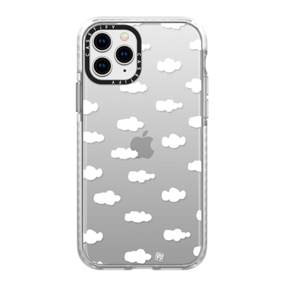 iPhone 11 Pro Cases - Watercolor sky cloud white by imushstore