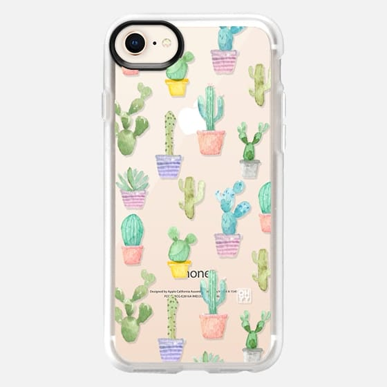 Watercolour pastel cactus hot summer by imushstore - Snap Case