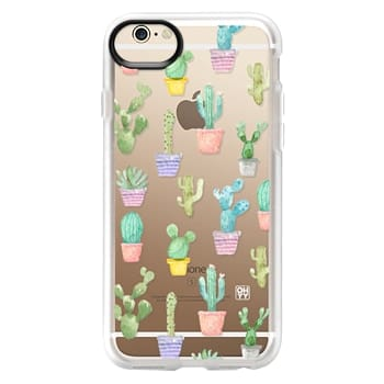 Grip iPhone 6 Case - Watercolour pastel cactus hot summer by imushstore