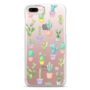 Snap iPhone 7 Plus Case - Watercolour pastel cactus hot summer by imushstore