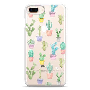 Snap iPhone 8 Plus Case - Watercolour pastel cactus hot summer by imushstore