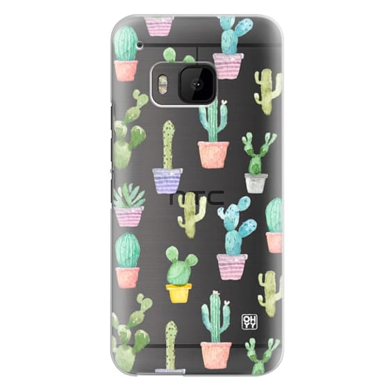Htc One M9 Cases - Watercolour pastel cactus hot summer by imushstore