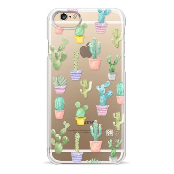 iPhone 6 Cases - Watercolour pastel cactus hot summer by imushstore