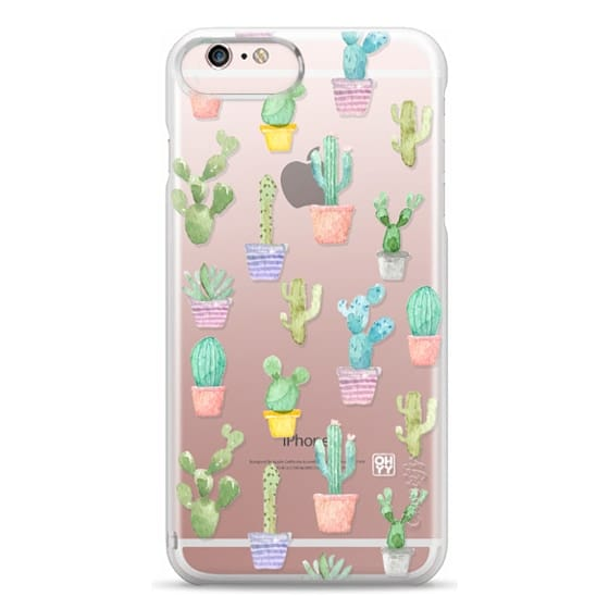 iPhone 6s Plus Cases - Watercolour pastel cactus hot summer by imushstore