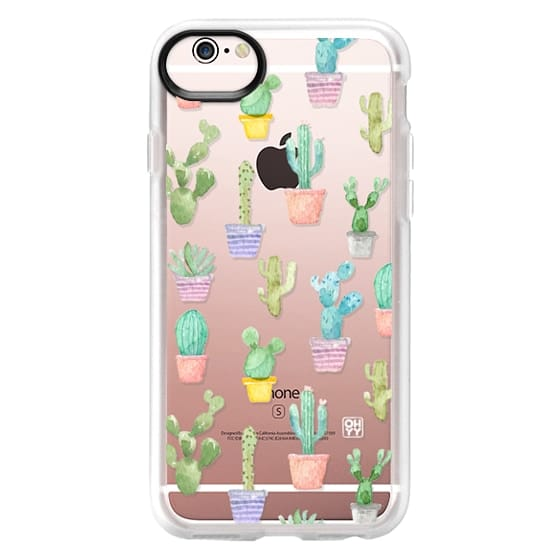 iPhone 6s Cases - Watercolour pastel cactus hot summer by imushstore