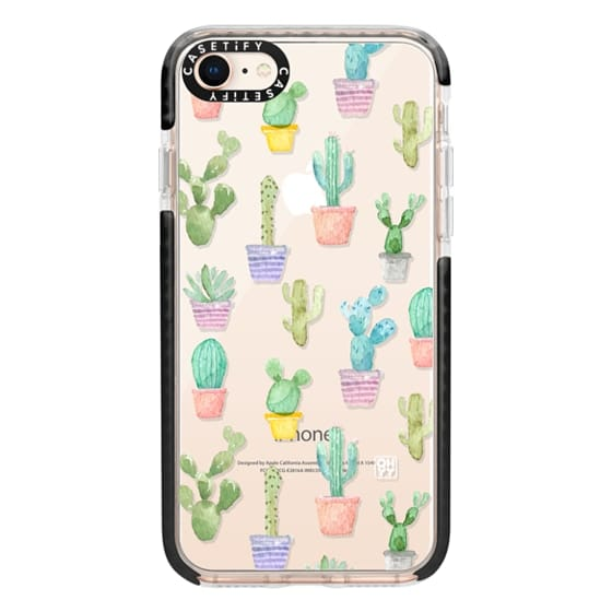 iPhone 8 Cases - Watercolour pastel cactus hot summer by imushstore