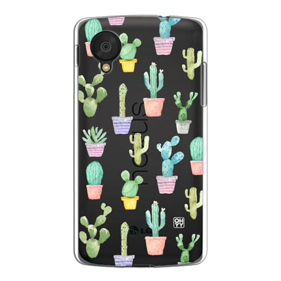 Nexus 5 Cases - Watercolour pastel cactus hot summer by imushstore
