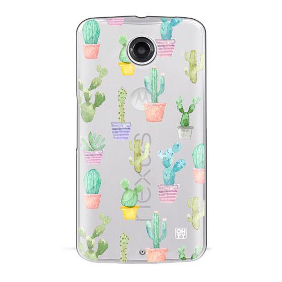 Nexus 6 Cases - Watercolour pastel cactus hot summer by imushstore