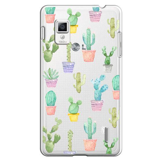 Optimus G Cases - Watercolour pastel cactus hot summer by imushstore