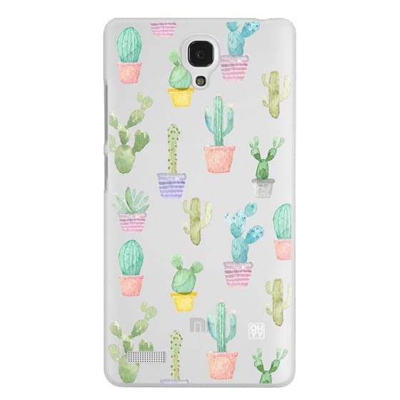 Redmi Note Cases - Watercolour pastel cactus hot summer by imushstore