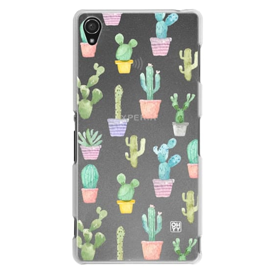Sony Z3 Cases - Watercolour pastel cactus hot summer by imushstore