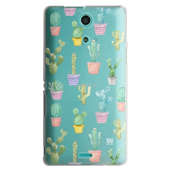 Sony Zr Cases - Watercolour pastel cactus hot summer by imushstore