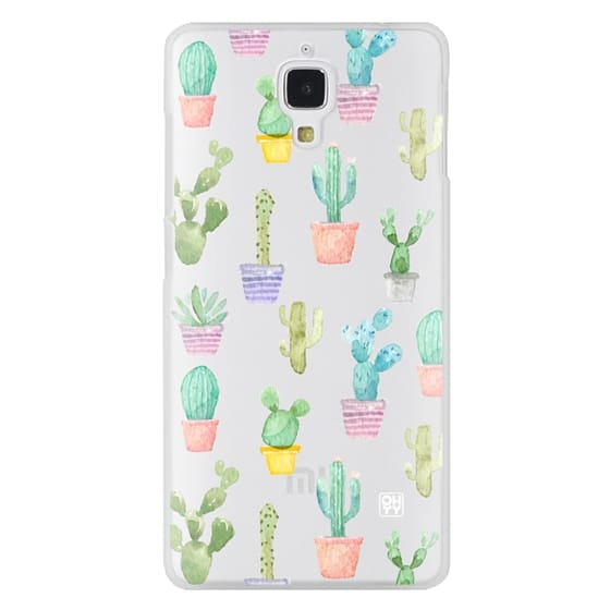 Xiaomi 4 Cases - Watercolour pastel cactus hot summer by imushstore