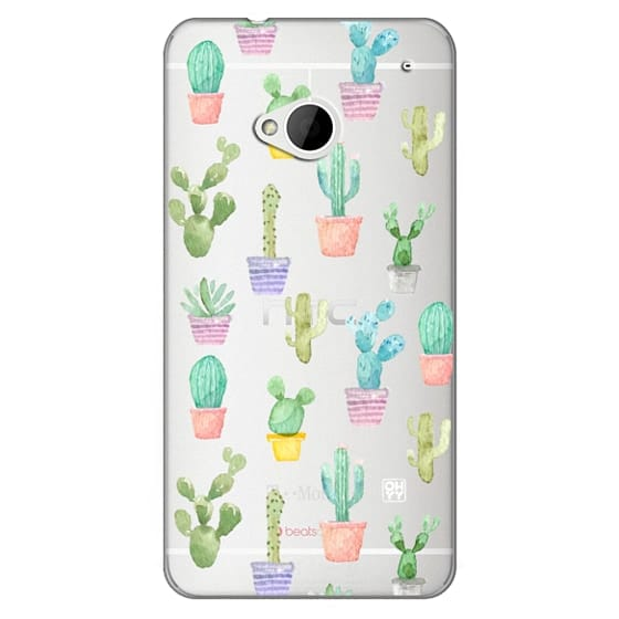Htc One Cases - Watercolour pastel cactus hot summer by imushstore
