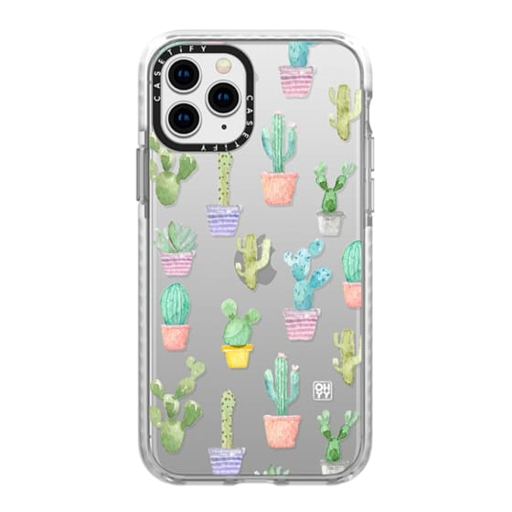 iPhone 11 Pro Cases - Watercolour pastel cactus hot summer by imushstore