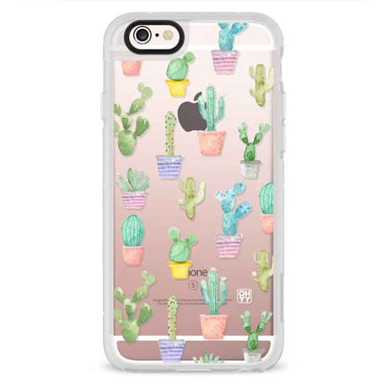 iPhone 4 Cases - Watercolour pastel cactus hot summer by imushstore