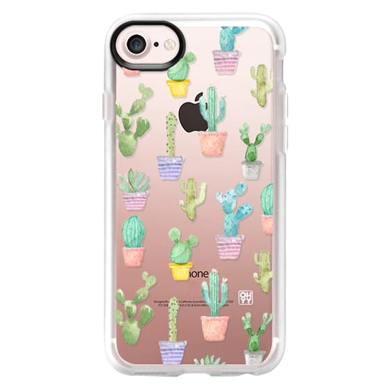 iPhone 7 Cases - Watercolour pastel cactus hot summer by imushstore