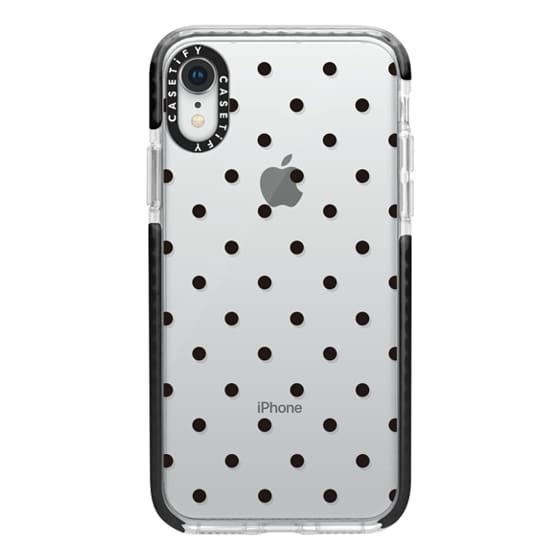 iPhone XR Cases - Black dot dot by imushstore