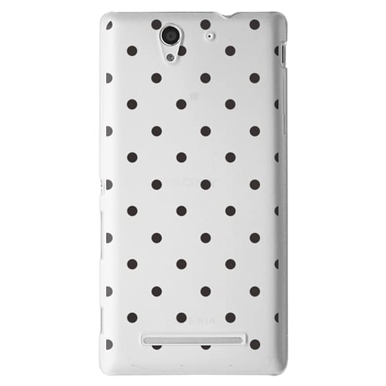 Sony C3 Cases - Black dot dot by imushstore