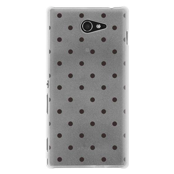 Sony M2 Cases - Black dot dot by imushstore