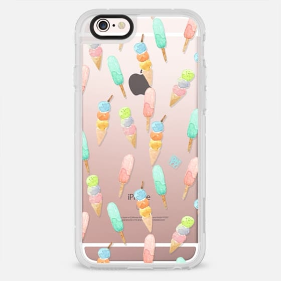 Watercolor pastel summer ice cream by imushstore - New Standard Case