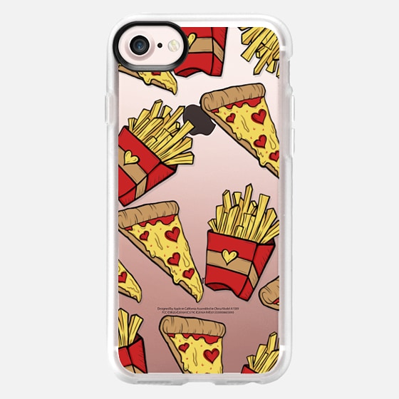 Pizza and Fries (TRANSPARENT)  - Classic Grip Case